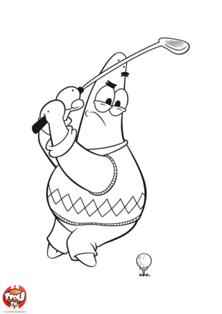 Coloriage: Patrick golf