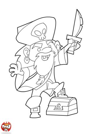 Coloriage: Le trésor du pirate