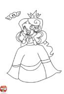 Coloriage princesse amoureuse