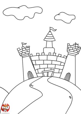 Coloriage: Le chateau du chevalier