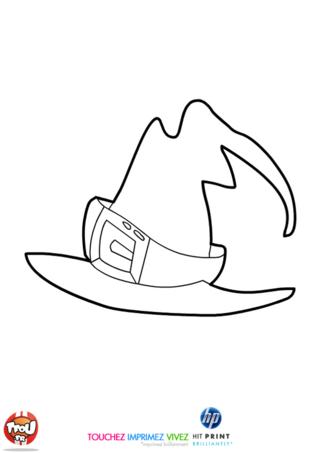 Coloriage: Chapeau de sorcière