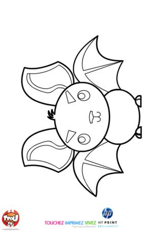 Coloriage: Chauve-souris