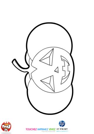 Coloriage: Citrouille