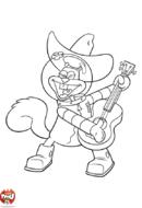 Sandy à la guitare