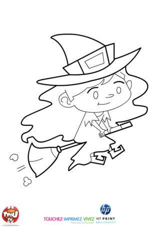 Coloriage: Petite sorcière