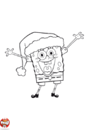Bob l'éponge et son bonnet de Noël