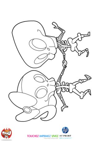 Ce coloriage gratuit à imprimer spécial Halloween t'attend sur TFou.fr ! Découvre vite ces deux squelettes rois de la danse, pour une soirée d'Halloween endiablée. Ils dansent le rock'n'roll des squelettes et secouent leurs os au rythme de la musique. Toi aussi tu aimes danser et tu aimes la fête d'Halloween ? Amuse toi à préparer ce squelette et sa copine en leurs donnant des couleurs, pour qu'ils soient les plus beaux au bal des sorciers, fantômes et autres créatures magiques !