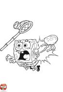 Bob l'éponge piqué par une méduse