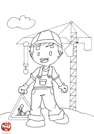 Coloriage: Chef de chantier