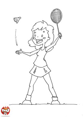 Coloriage: Joue au badminton
