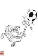 Bob l'éponge joue au foot