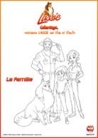 Lassie et sa famille