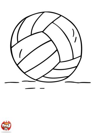 Coloriage: Ballon de volley