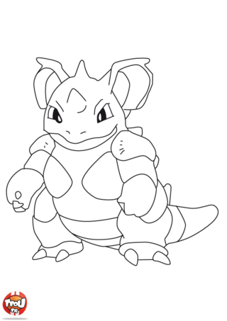 Coloriage: Nidoking 2