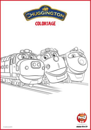 Retrouve tes locomotives Chuggington préférées à colorier ! Essaie de retrouver les noms des locomotives qu'il y a sur ce coloriage ! Tu les as reconnus? Super ! Maintenant choisis tes feutres ou crayons préférés pour les colorier ! Retrouve plus de coloriages et d'activités sur TFou.fr !