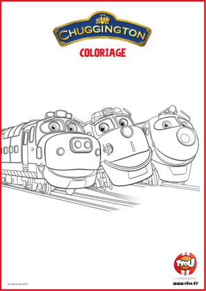 Coloriages locomotives Chuggington