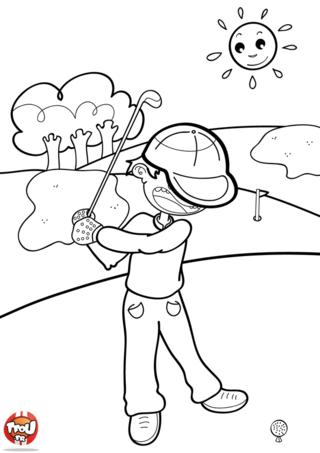 Coloriage: Joue au golf