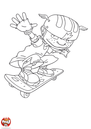 Coloriage: Twister skate