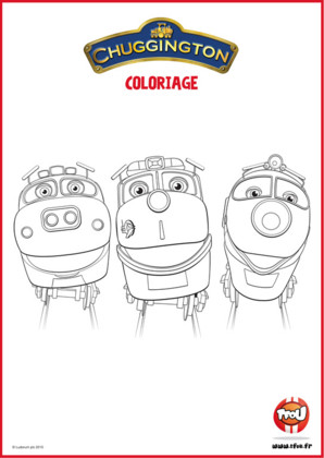 Colorie les 3 locomotives Chuggington