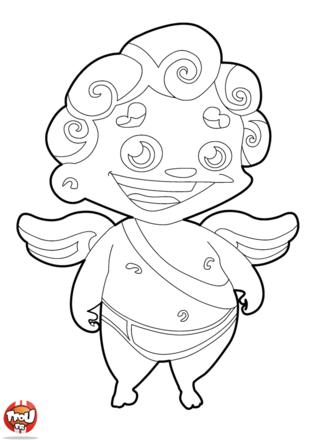 L'ange Cupidon attend chaque année le 14 février pour fêter la Saint Valentin. Imprime toi aussi l'ange Cupidon très mignon sur TFou.fr et colorie-le.