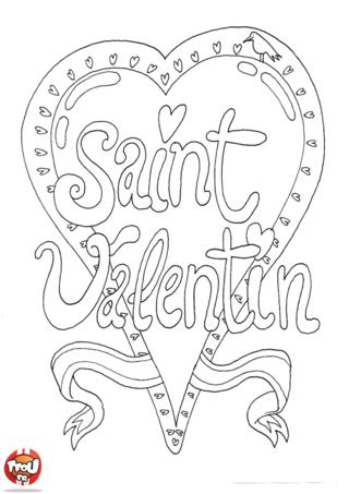 Le coeur est le symbole de la Saint Valentin. Tous les amoureux en dessinent pour montrer leur amour. Imprime ce joli coeur de Saint Valentin sur TFou.fr et colorie le.