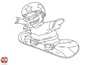 Coloriage: Sam skate