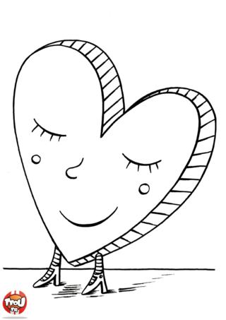 Imprime et colorie de jolis coloriages pour la Saint Valentin. Prends tes plus beaux crayons de couleurs et colorie ce coeur de la Saint Valentin sur TFou.fr.