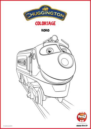 Téléchargez gratuitement ce coloriage Koko ta locomotive préférée de Chuggigton ! En route pour l'aventure avec Koko la locomotive de Chuggington ! Colorie avec les couleurs de ton choix Koko la locomotive, et retrouve d'autres coloriages de Chuggington sur TFou.fr !