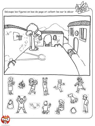 Coloriage: L'école