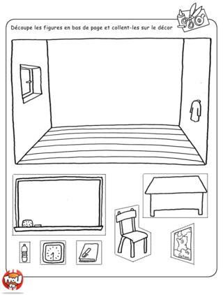 Coloriage: La salle de classe