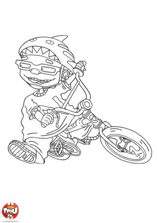 Coloriage: Sam et son vélo