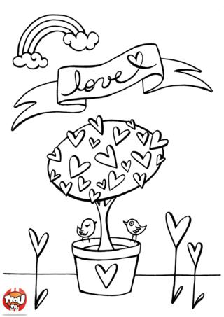 Les oiseaux chantent pour célébrer la Saint Valentin le 14 février. Ils sont tout heureux pour la fête de la Saint Valentin. Imprime vite les coloriages Saint Valentin sur TFou.fr.
