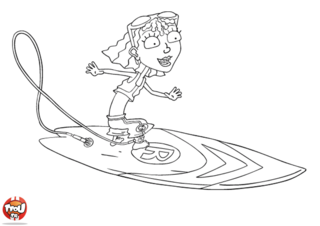 Coloriage: Reggie surf profil