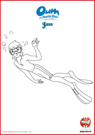 Prêt pour une activité coloriage? Yann habite en Polynésie et adore explorer les richesses des fonds marins. Le sais-tu? En imprimant gratuitement ce coloriage de ton héros TFou tu pourras gagner plein de Tfizz ainsi qu'un badge Oum le Dauphin Blanc!