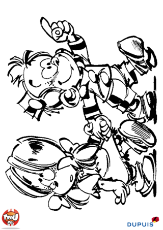 Coloriage: Petit Spirou 2