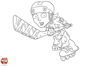 Coloriage: Reggie hockey gros plan