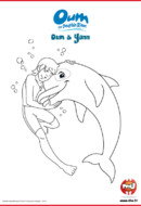Coloriage Oum le dauphin blanc