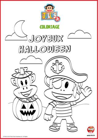 Coloriage Julius Jr Halloween