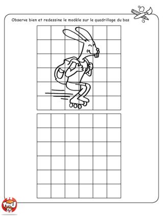 Coloriage: Le lapin