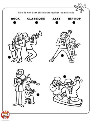 Coloriage: Les musiciens
