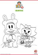 tit'ours et chouquette fêtent halloween- julius jr