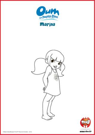 Prêt pour une activité coloriage? Marina est très curieuse, elle a l'âme d'une aventurière et adore les animaux qu'elle trouve tous mignons... Même les mygales, les mille- pattes et les murènes! Le sais-tu? En imprimant gratuitement ce coloriage de ton héros TFou tu pourras gagner plein de Tfizz ainsi qu'un badge Oum le Dauphin Blanc!