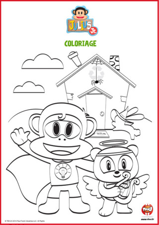 Coloriage Halloween - Julius Jr et Ping