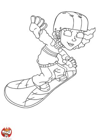 Coloriage: Reggie snowboard