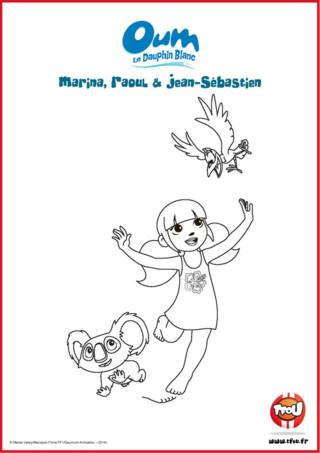Prêt pour une activité coloriage? Marina vit en Polynésie et adore s'amuser avec ses amis! Le sais-tu? En imprimant gratuitement ce coloriage de ton héros TFou tu pourras gagner plein de Tfizz ainsi qu'un badge Oum le Dauphin Blanc!