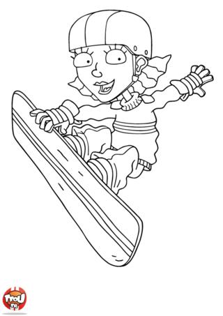 Coloriage: Reggie figure snowboard