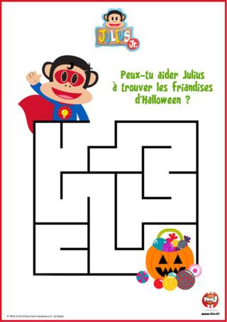 Coloriage Halloween Julius Jr